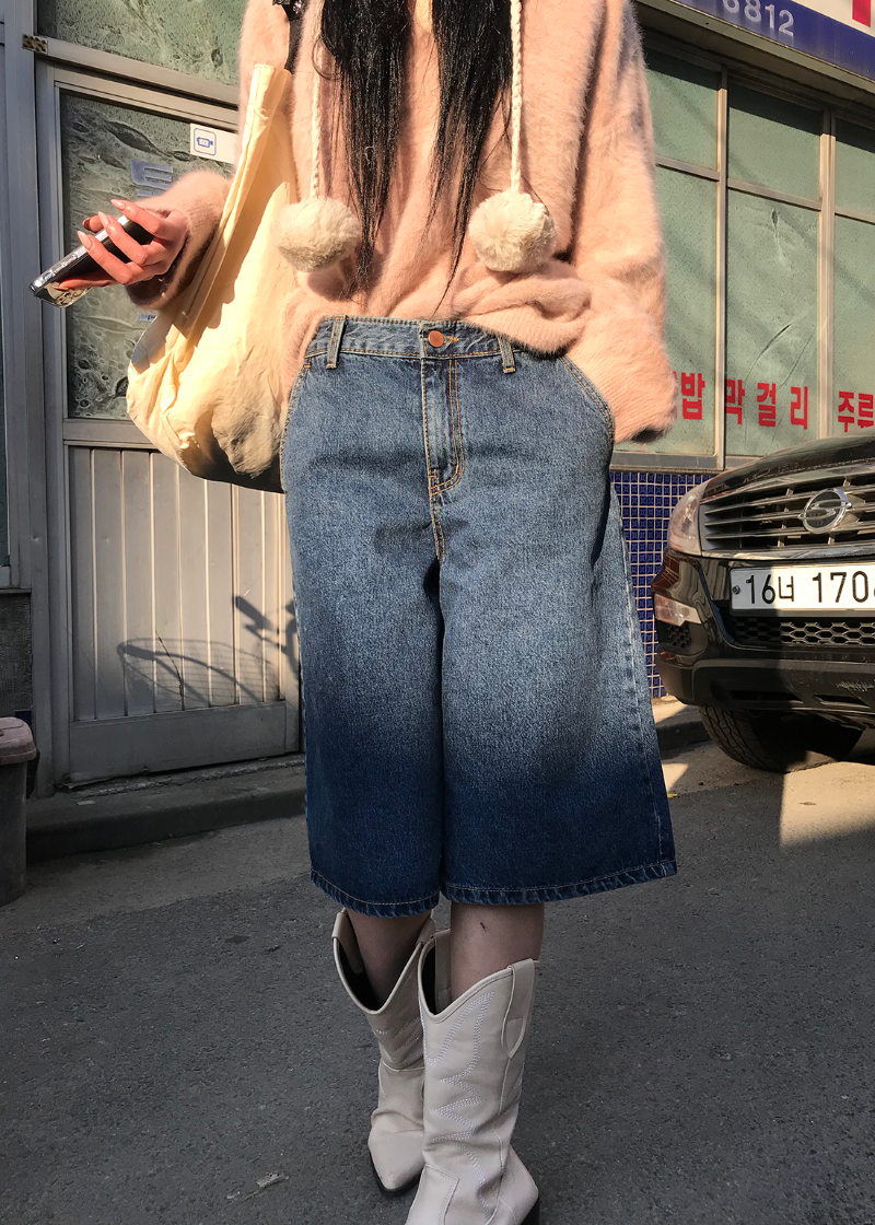 denim bermuda pants